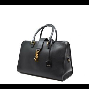 SAINT LAURENT Smooth Calfskin Monogram Cabas bag